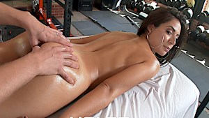 Jynx Maze gets her asshole poked in the gym