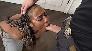 Ebony babe punished for removing her ankle bracelet