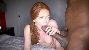 Ella Hughes exerting herself with that huge black cock of Mandingo